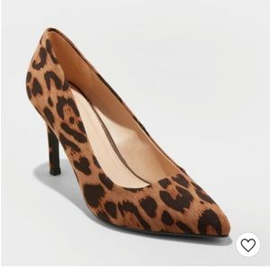 A New Day Gemma Pointed Toe Leopard Print Pump